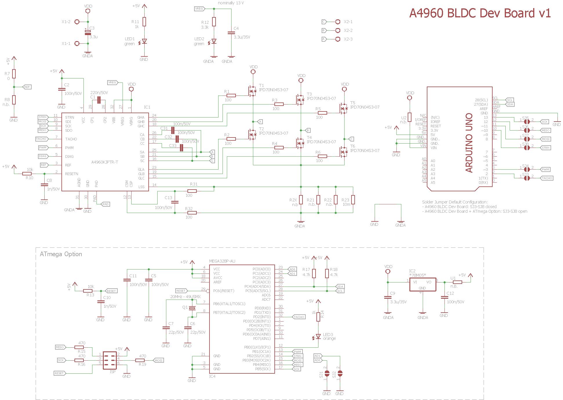a4960 bldc device board allegro speed controller arduino shield