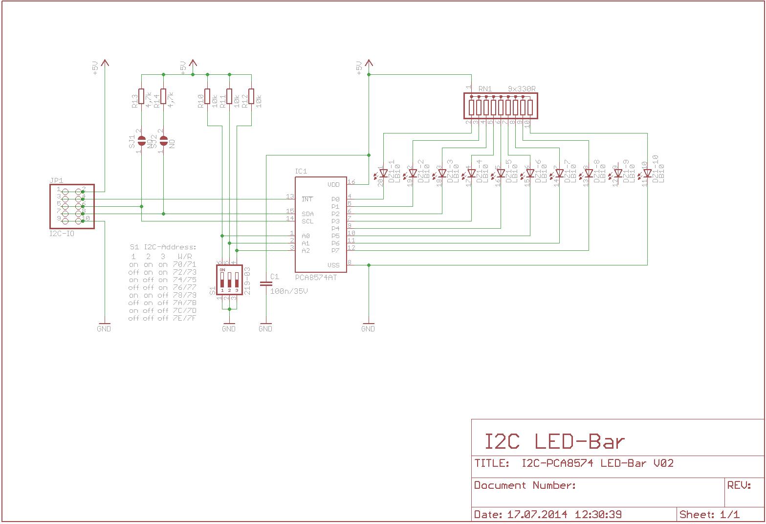Wenzel Systems: I2C LED-Bargraph